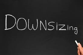 photo of the word downsizing